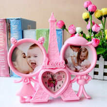 frame gift webbing gift and present picture frame plastic photo box photo frame with clock for kid kid's gift table decor