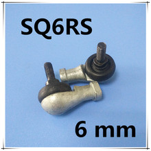 Free Shipping 4pcs/lot SQ6 SQ6RS 6mm Ball Joint Rod End Right Hand Tie Rod Ends Bearing SQ6RS(China)