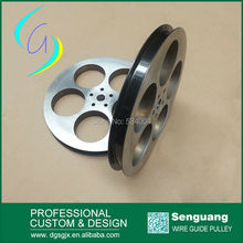 big chrome oxide ceramic coated aluminum cable pulley