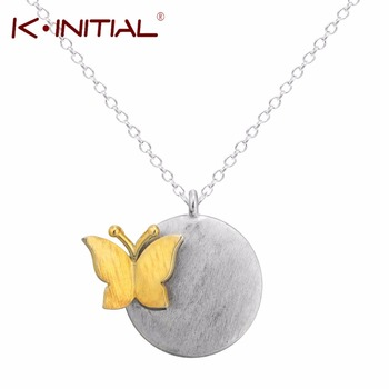 1Pcs 925 Silver Butterfly Pendant Charms Necklace Clavicle Chain Animal Circle Pendants Necklaces Women Fashion Chock Jewelry