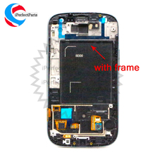 AMOLED LCD for SAMSUNG Galaxy S3 LCD Display GT-i9300 i9300 Touch Screen +Frame +Volume/Power/Home Button Digitizer Replacement(China)