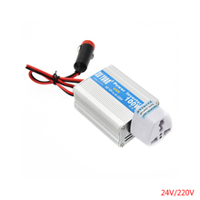Car Power Inverter Adapter DC 12V/24V to AC 220V Peak Power 200W Auto Power Converter Adaptor Laptop Computer(China)