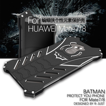 Huawei Mate 8 Case Luxury Metal Aluminum Cover Movie Heroes The Dark Knight Batman Element Bumper Case For Huawei Ascend Mate 8