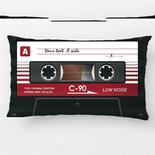 Old Retro Music Cassette Mix Tape Throw Cushions Wedding Decorative Cushion Cover Pillow Case Customize Gift For Sofa Pillowcase