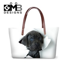Trendy Handbags for Women Shopping,Large Dog Printd Shoulder Beach Bag,Girls Tote Bag on Country Rode,New Hand Bags for Ladies