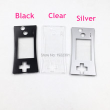 E-house Black/Silver/ Clear Faceplate Cover Replacement Front Shell Housing Case For Nintendo Game Boy Micro for GBM