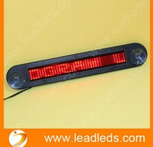4pcs 12V smart programmable mini led sign for car with remote control(China)