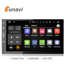 Eunavi Car DVD 2 din GPS Universal Android 5.1 Quad Core 16GB with Microphone GPS Navigation Bluetooth Stereo Audio Player