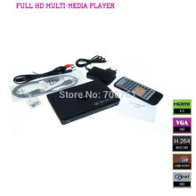 Portable Full HD 1080P MultiMedia Player Outputs HDMI, VGA, YPbPr, CVBS(AV) HDD media player support RM/RMVB SD/ SDHC/ MMC