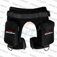 Aturdive submersible pocket pants submersible leg bag bags bandage pants submersible pants thickening Diving equipment shorts