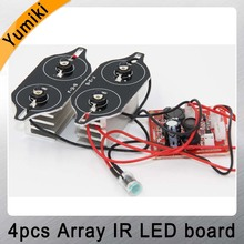 Yumiki Spot Light Infrared 4x IR LED board for CCTV cameras night vision for dahua 110 housing(China)