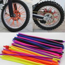 36pcs Motorcycle Wheel Spoked Wraps Skins Covers Motocross Dirtbike Dirt Bike Cool Accessories Rims Skins Covers Guard Protector