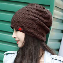 winter spring warm reversible crochet  beanie hat for women men,knit chunky baggy skullies cap bonnet,gorros mujer invierno