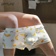 Buy DANJIU Fashion Young Panties Mens Soft Boxer Shorts Cotton Underpants Homme Cueca Breathable Calzoncillos Sexy banana Underwear