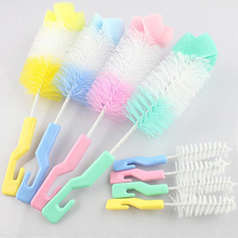 EZLIFE 360 Degree Rotating Spin Cleaning Brush Baby Milk Feeding Bottle Nipple Scrubber Cleaning Brush House Cleaning Tools