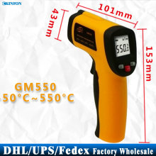 DHL Fedex UPS 40PCS GM550 Digital Non-Contact -50 To 550 degree LCD IR Laser Infrared Thermometer  Point Gun