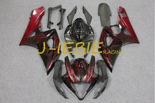 Black red fire Injection Fairing Body Work Frame Kit for SUZUKI GSXR 1000 GSXR1000 K5 2005 2006(China)