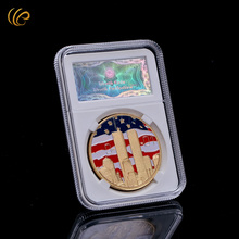 WR Value Collection 24k Gold Coin Fashion Gifts American Coin 9.01 USA Army Coin High Quality Metal Craft with Nice Box 40mm(China)