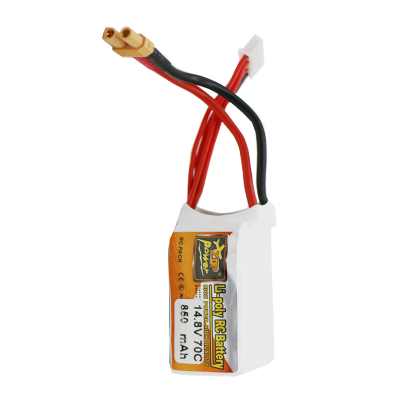 ZOP Power 14.8V 850mAh 70C 4S Lipo Battery Rechargeable XT30 Plug Connector for RC Racing Drones FPV Quadcopter Toys Spare Part