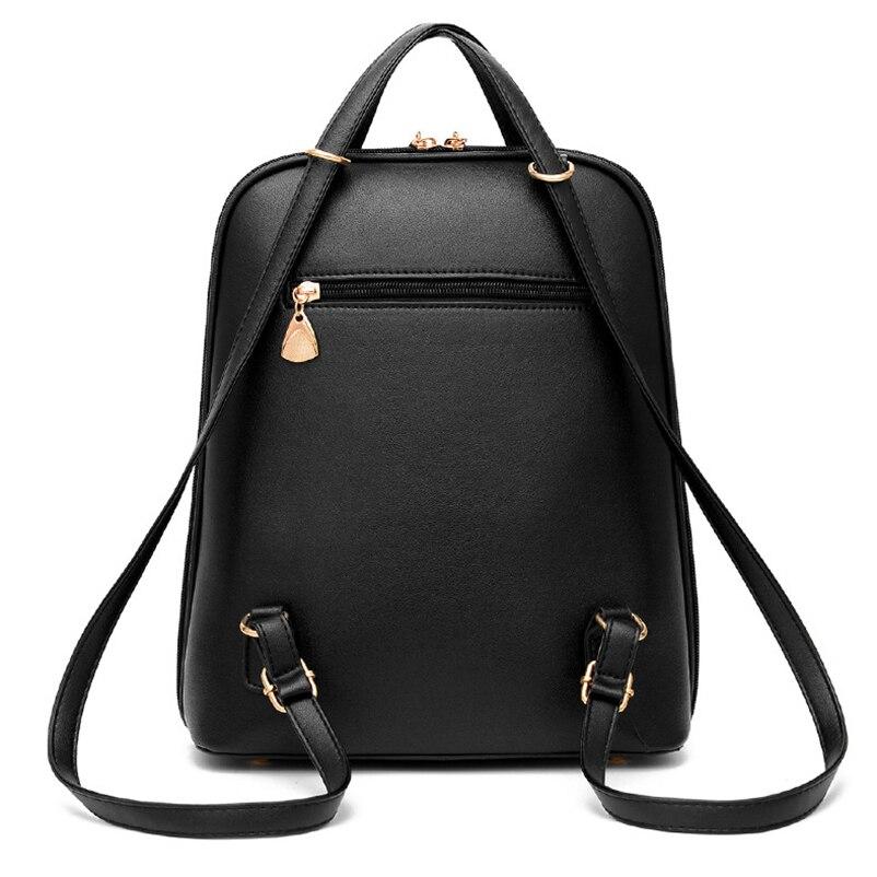 Nevenka Anti Theft Leather Backpack Women Mini Backpacks Female Travel Backpack for Girls School Backpacks Ladies Black Bag 201810