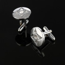Luxury Austria Crystal Design Men's Cuff Links Wedding Shirt Cuff Gifts for Mens Wholesale