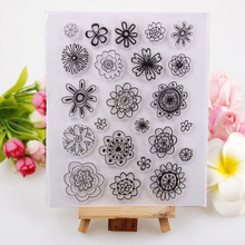 Green Flowers Style SunFlowers Clear Stamp Eco-friendly Transparent Stamp For DIY Scrapbooking/Card Making/ Decoration Supplies