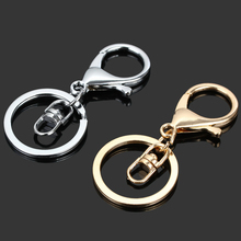 Portachiavi Key Chain Gold Color Vrouwen Blank Metal Sleutelhanger Key accessories keychains Valentine Gifts Creative 10pcs