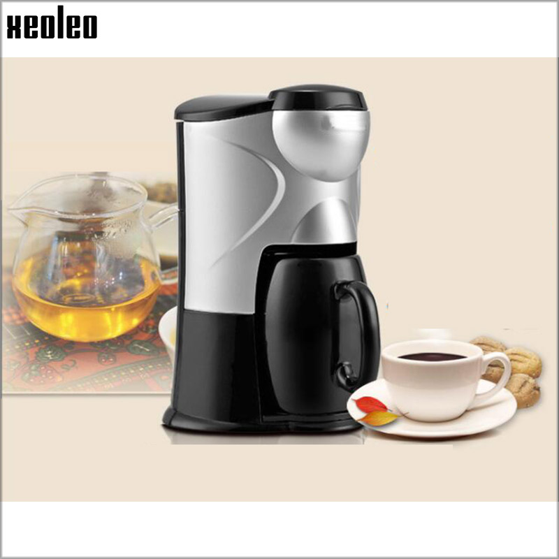 Xeoleo Mini Drip Coffee maker Single Cup Coffee machine Household Hourglass Coffee 150ml with Ceramic Cup Black/Pink 300W 220V<br>