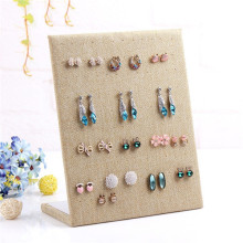 Fashion Linen Material display shelf board pin earrings jewelry earring holder jewelry box store shelf