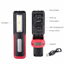COB LED+XPE LED Flashlight Torch Outdoor Handy Lamp Portable Rechargeable Work Camping Light Energy Saving Lamp With Magnet Hook