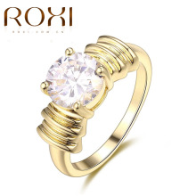ROXI 2017 Exquisite Wedding Engagement Rings Gold Color Classic Sparkling Cubic Zirconia Forever Ring For Women Fashion Jewelry