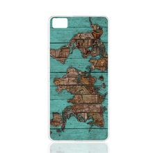 00127 wood map prints cell phone Cover Case for BQ Aquaris M5.0 for ZUK Z1 FOR GOOGLE nexus 6