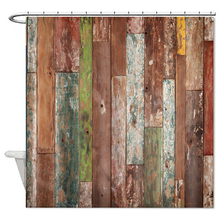 Retro Vintage Wooden Door Shower Curtain Bathroom Waterproof Mildew Polyester Curtains Home Decor Cortina Bathtub Hot Sale