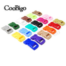 "100pcs Colorful Curved 3/8"" Side Release Buckle Parachute 550 Cord Paracord Bracelet Dog Collar Strap Outdoor Backpack Bag Parts"