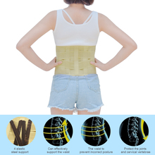 1Pcs Lumbar Support Belt Back Braces Breathable Waist Treatment of Lumbar Disc Herniation Lumber Muscle Strain C623