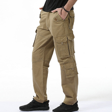 High Quality Tactical Pants Men Fashion Designer Cargo Pants Loose Multi Pockets 100% Cotton Casual Men Trousers Army Work Pant