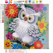 Buy DIY 5D Diamond Painting Animals owl Cross Stitch diamond embroidery 3D diamond mosaic Needlework Crafts Christmas Gift for $3.99 in AliExpress store