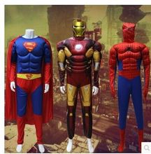 Iron man spiderman Superman Captain America cosplay muscle Ant-Man thor Halloween Costume adult men Party Clothing