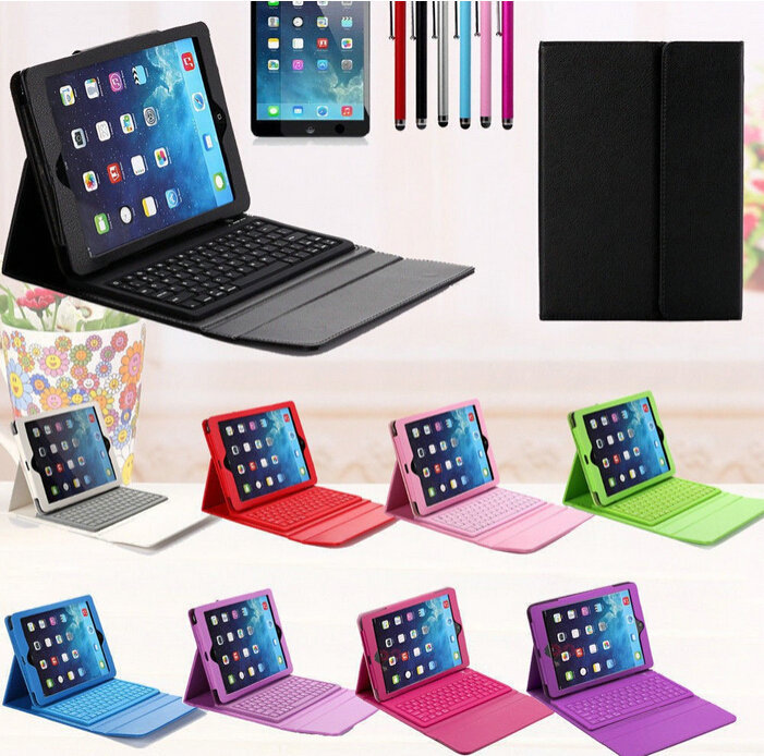 2016 slim Silicone wireless bluetooth keyboard leather case with stand cover bluetooth 3.0 for Ipad air iPad 5 free shipping<br><br>Aliexpress