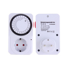 New 24 Hour Energy Saver Mechanical Electrical Plug Program Timer Power Switch EU PlugWorldwide Wholesale