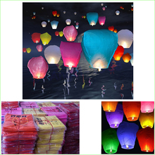 5pcs/lot New Year Party Romantic Sky Lanterns Paper Flying Balloons with Fuel For Wedding Party Birthday Wedding Decoration