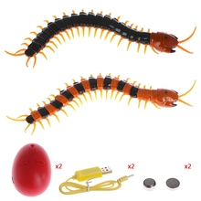 Remote Control Animal Centipede Creepy-crawly Prank Funny Toys Gift For Kids #T026#(China)