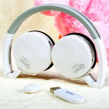 2.4G wireless Stereo computer/PC headphone earphone headset with mic skype facebook MSN Wireless chat Factory sales