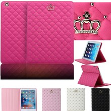 Diamond Crown Grid PU Leather Smart Cover For Apple Ipad Mini Case For Ipad Mini1 / Ipad Mini 2/Ipad Mini 3 Case Auto Wake Stand