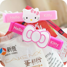 1 Set.Cute Kitty Cat Bow Food Snack Bag Storage Sealing Clips,Seal Clamp Plastic Bags Ziplock Clip Home Food Storage Helper
