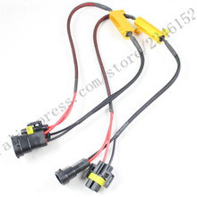 H8 H9 H11 LED Light Fog Xenon HID DRL Lamp Bulb Decoder Resistor Canbus Wire Harness Adapter 50w 6/8ohm 9-14V