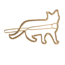 New puppy hollow cat metal hairpin fashion boutique hair ornament cute little animal hair clips girls hair accessories for women
