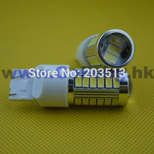 100pcs/lot factory price Auto car lighting T20 WY21W W21/5W 33 smd 7443 33 leds 5630SMD nice color bulb Free shipping