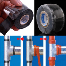 New Waterproof Silicone Performance Repair Tape Bonding Rescue Self Fusing Wire Hose Black Sell Hotting Silicone tape
