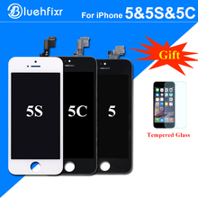 Bluehfixr AAA Quality LCD Screen for iPhone 5S 5C 5 LCD Display Touch Screen Digitizer Assembly Replacement for iPhone 5S LCD(China)
